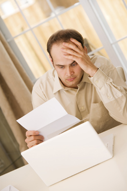 Bills are stressful. Benzodiazepines may help.